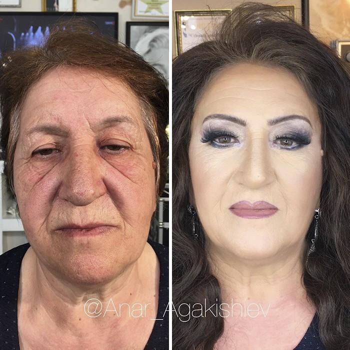 Maquiador mostra o poder da maquiagem em suas clientes idosas (2)