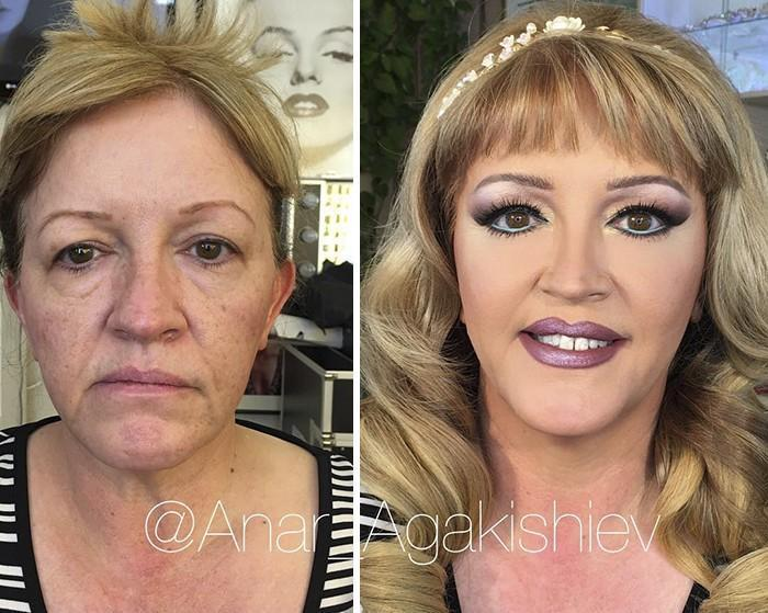 Maquiador mostra o poder da maquiagem em suas clientes idosas (1)