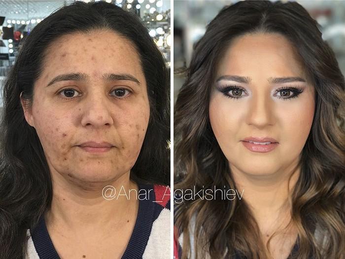 Maquiador mostra o poder da maquiagem em suas clientes idosas (16)