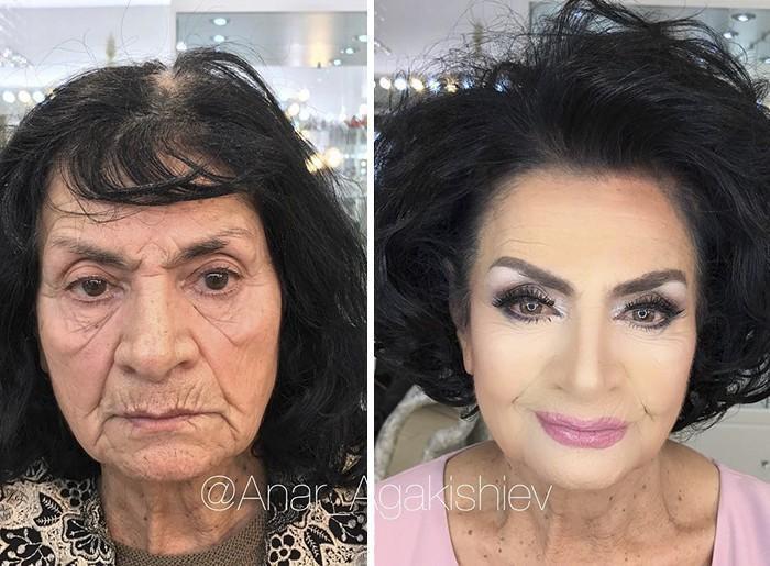Maquiador mostra o poder da maquiagem em suas clientes idosas (15)