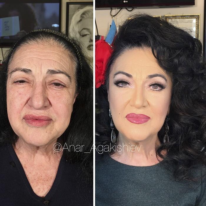 Maquiador mostra o poder da maquiagem em suas clientes idosas (14)