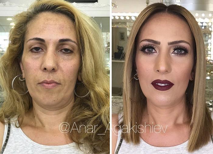 Maquiador mostra o poder da maquiagem em suas clientes idosas (12)