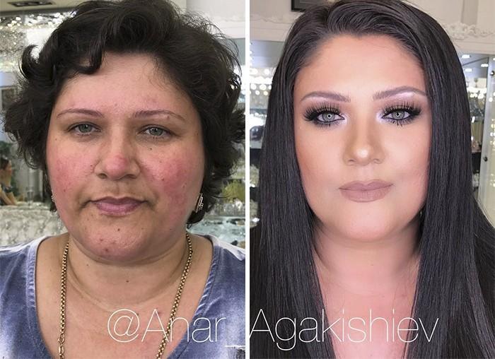 Maquiador mostra o poder da maquiagem em suas clientes idosas (11)
