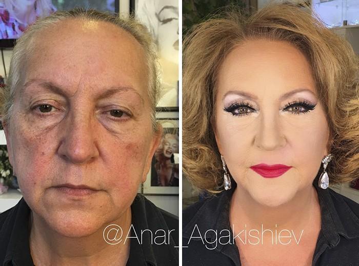 Maquiador mostra o poder da maquiagem em suas clientes idosas (10)