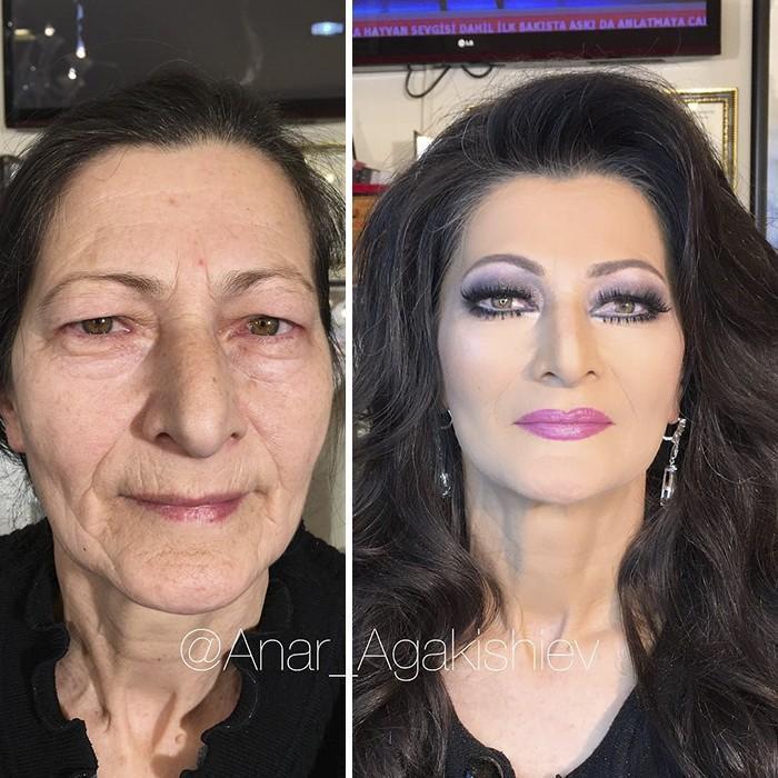 Maquiador mostra o poder da maquiagem em suas clientes idosas (9)