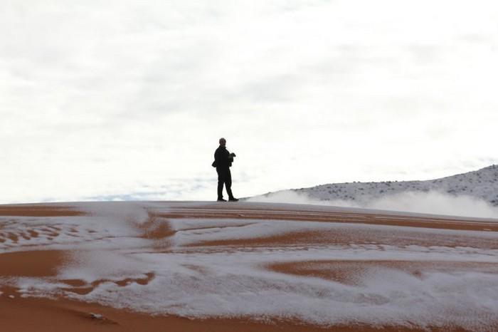 Neve no deserto do Sahara (1)