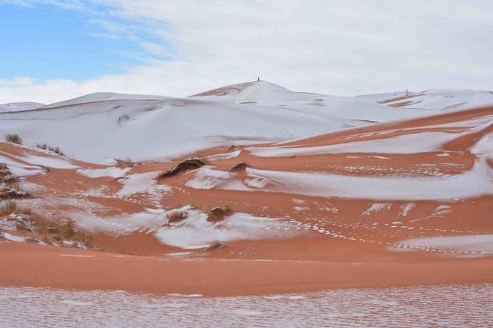 Neve no deserto do Sahara (3)