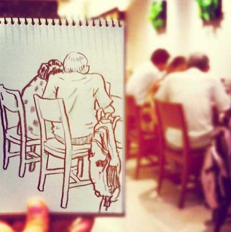 Desenhando cenas da vida cotidiana (4)