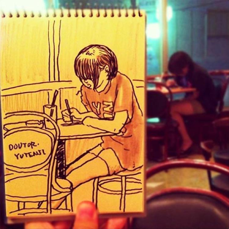 Desenhando cenas da vida cotidiana (5)
