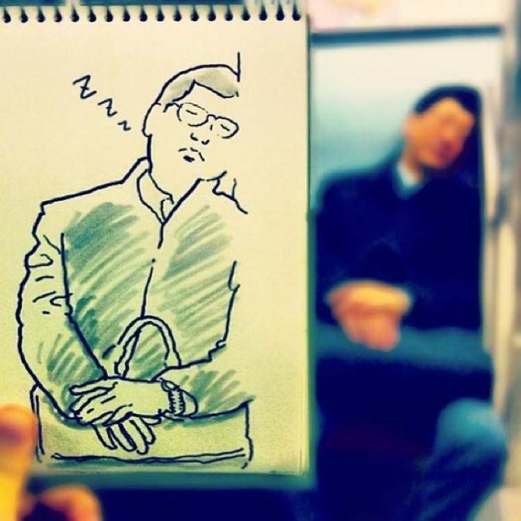 Desenhando cenas da vida cotidiana (6)