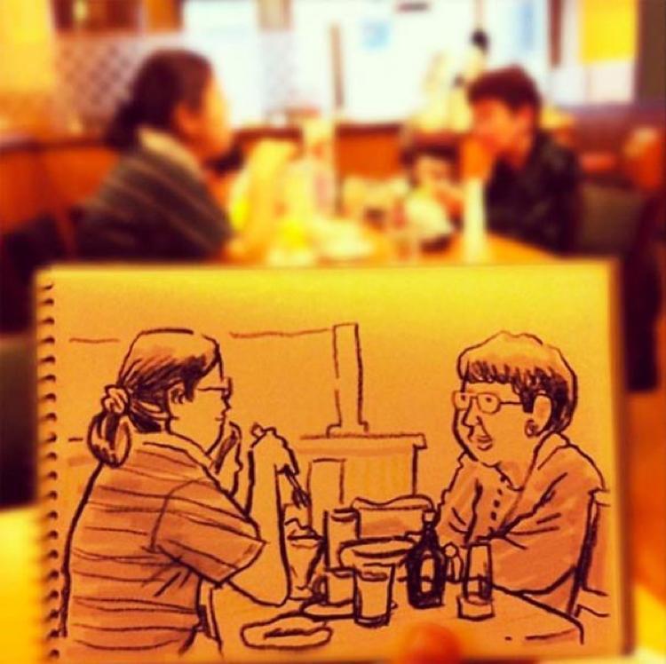 Desenhando cenas da vida cotidiana (8)