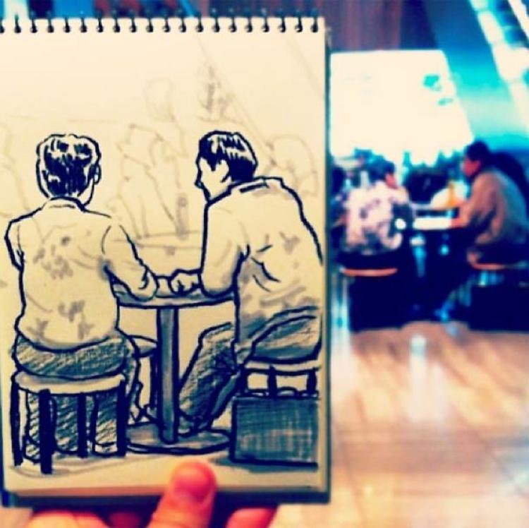 Desenhando cenas da vida cotidiana (9)