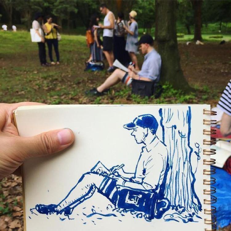 Desenhando cenas da vida cotidiana (11)