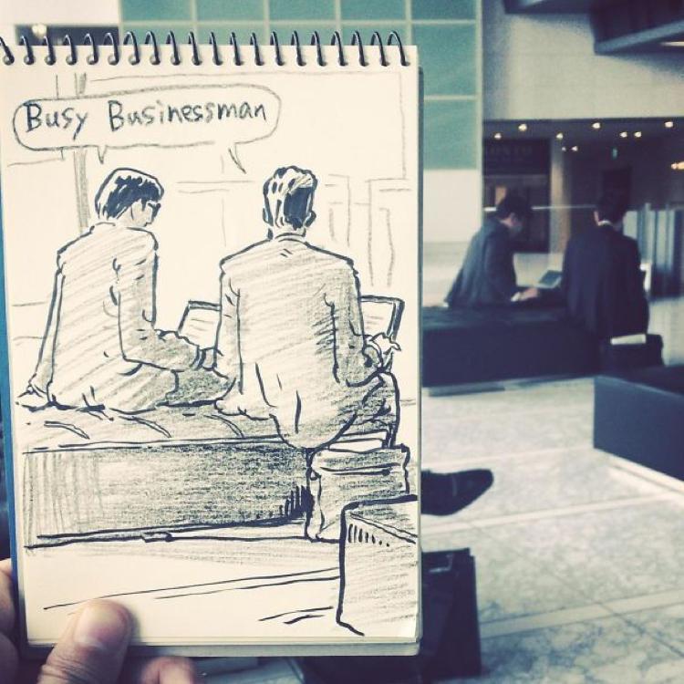 Desenhando cenas da vida cotidiana (12)