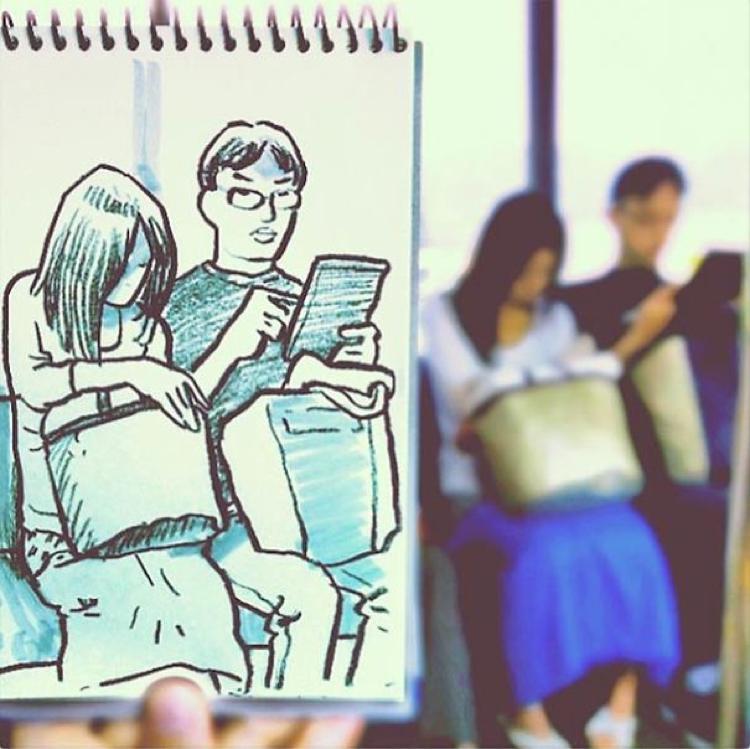 Desenhando cenas da vida cotidiana (13)