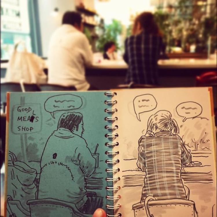 Desenhando cenas da vida cotidiana (14)