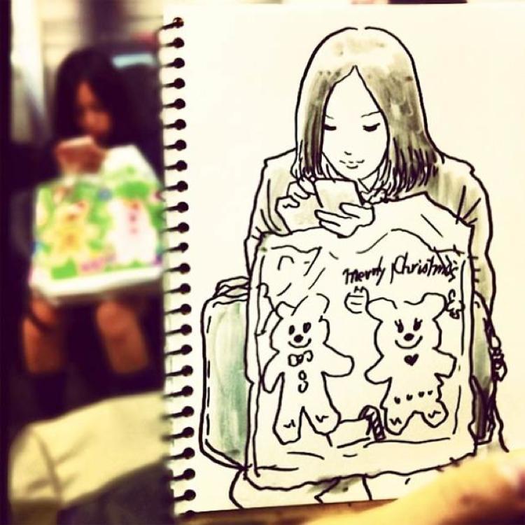 Desenhando cenas da vida cotidiana (15)