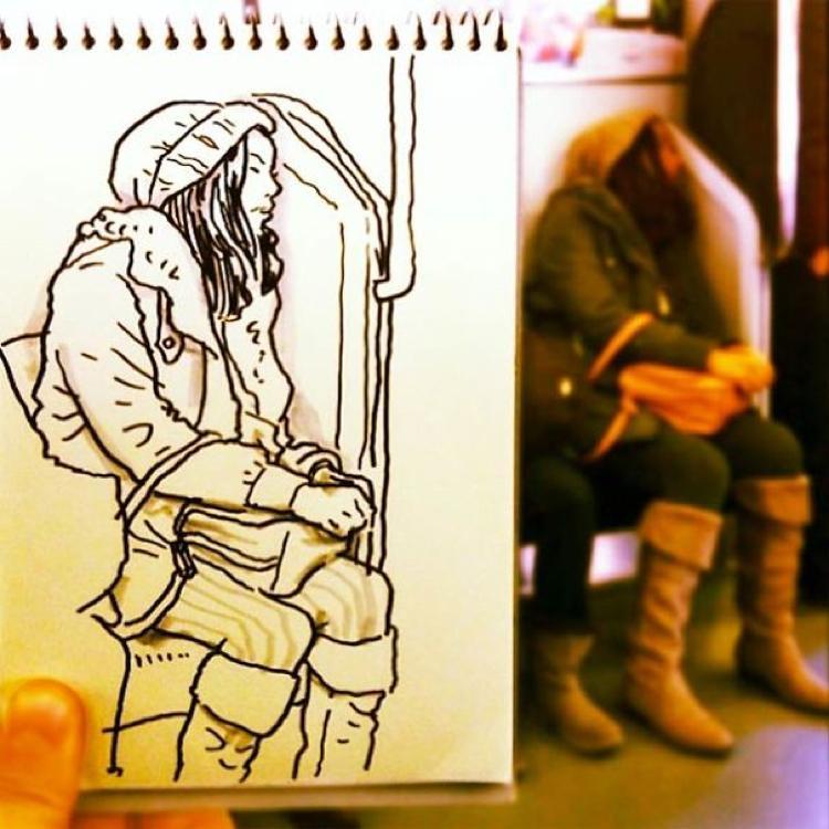 Desenhando cenas da vida cotidiana (16)