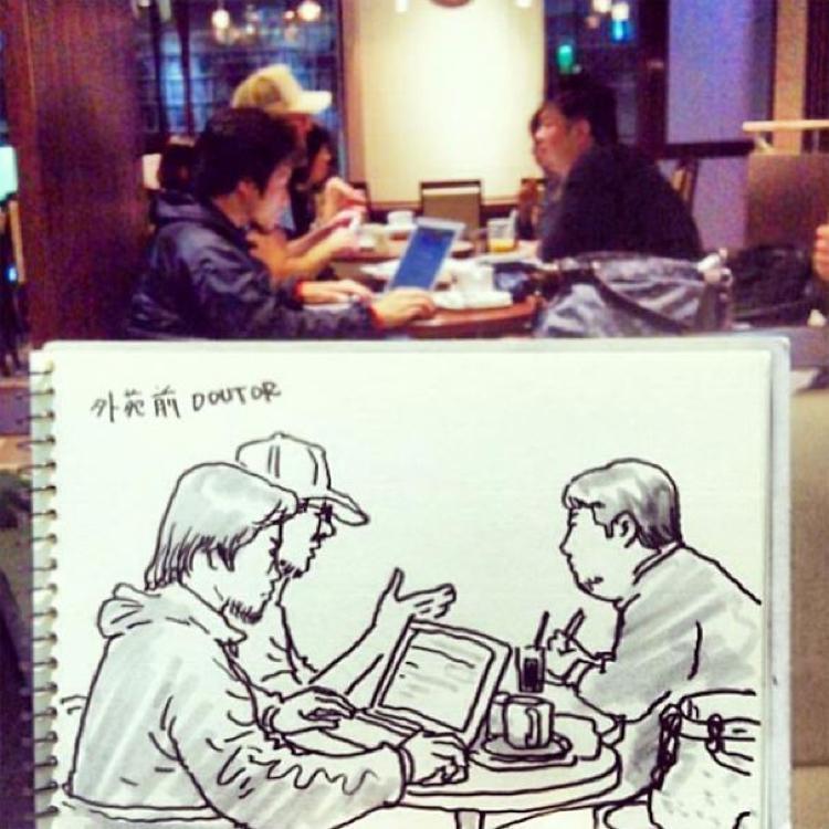 Desenhando cenas da vida cotidiana (18)