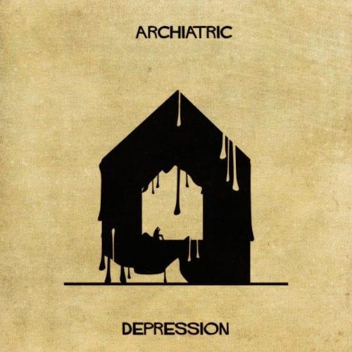 Artista retrata doenças e condições mentais como obras de arquitetura (6)