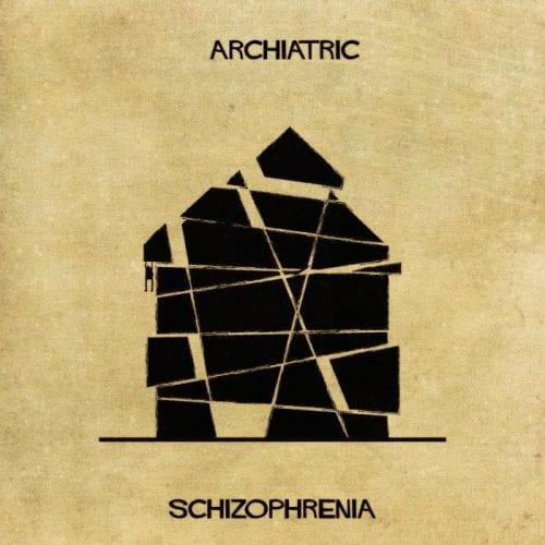 Artista retrata doenças e condições mentais como obras de arquitetura (5)