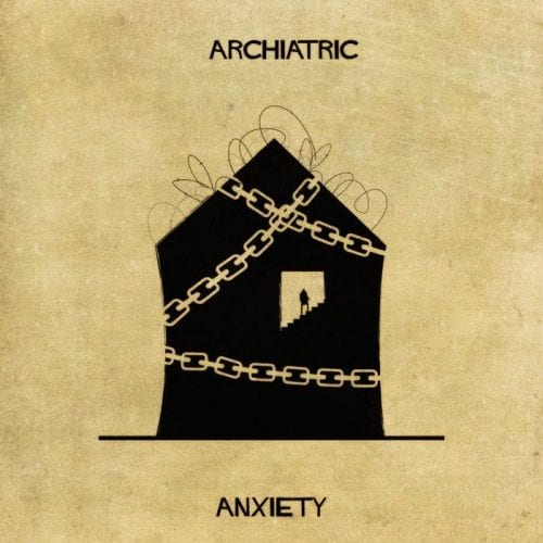 Artista retrata doenças e condições mentais como obras de arquitetura (3)