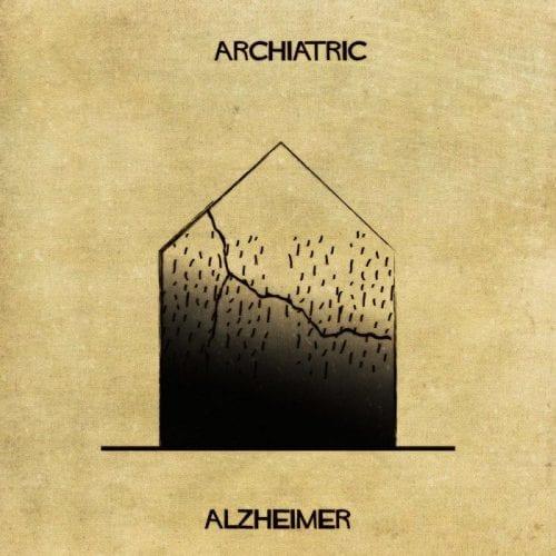 Artista retrata doenças e condições mentais como obras de arquitetura (1)