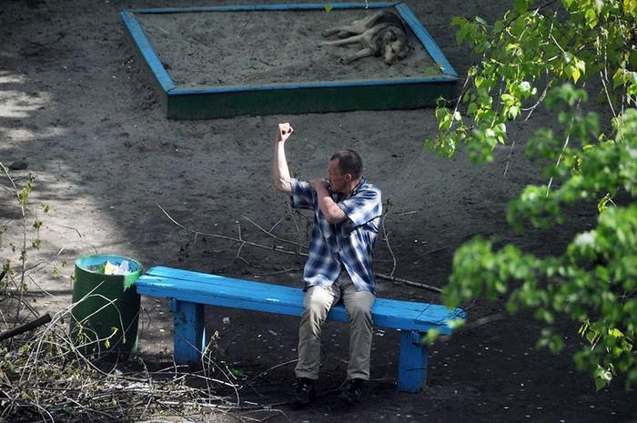 fotógrafo registra o mesmo banco de parque há dez anos (16)