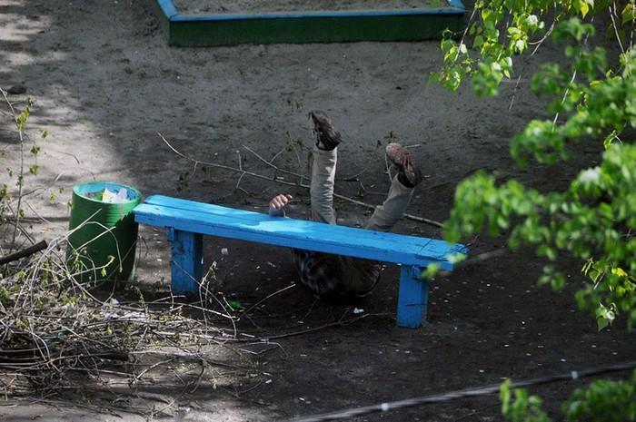 fotógrafo registra o mesmo banco de parque há dez anos (4)