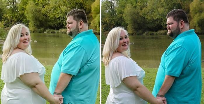 noiva acusa fotógrafa de fat shaming por editar sua foto com o noivo (4)