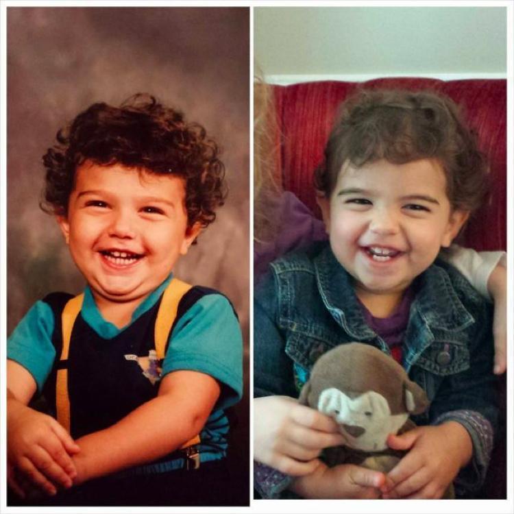 Fotografias dos pais e seus filhos na mesma-idade (1)