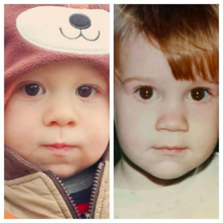 Fotografias dos pais e seus filhos na mesma-idade (2)