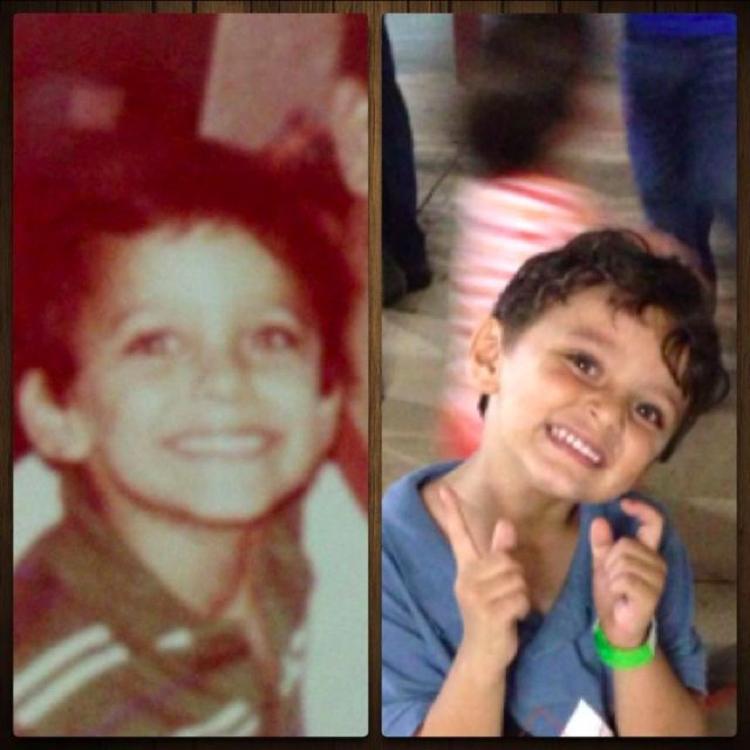 Fotografias dos pais e seus filhos na mesma-idade (13)