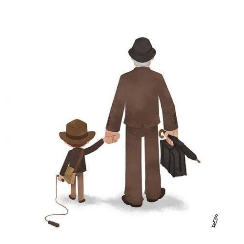 Personagens famosos levando filhos para escola (12)