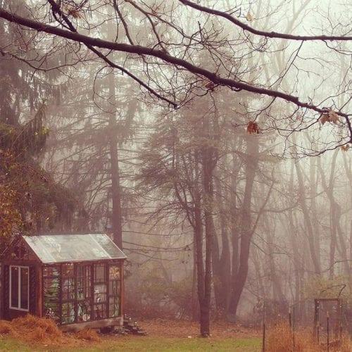 Cabana de vitral escondida na floresta (1)