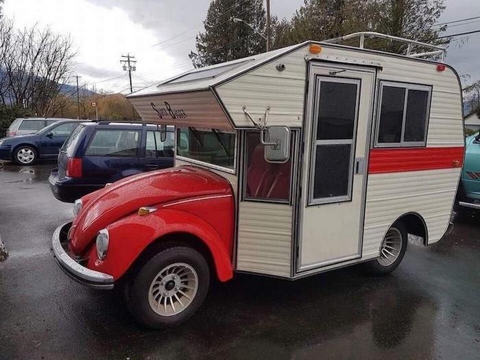 Fuscas convertidos em charmosos trailers de acampamentos (1)