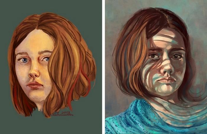 Artistas refazem seus desenhos para provar sua melhora com o tempo (19)