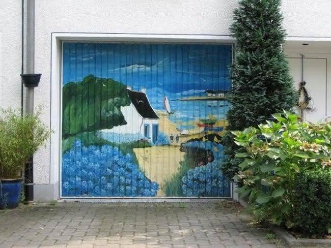 Arte em portão de garagem (1)