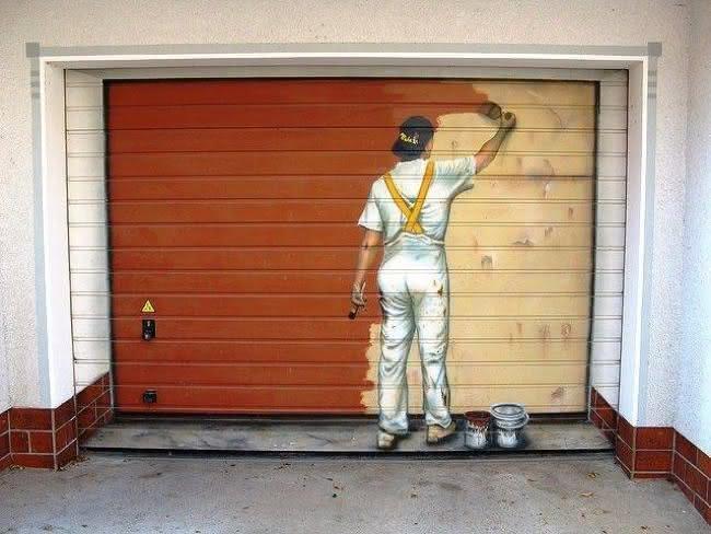 Arte em portão de garagem (2)