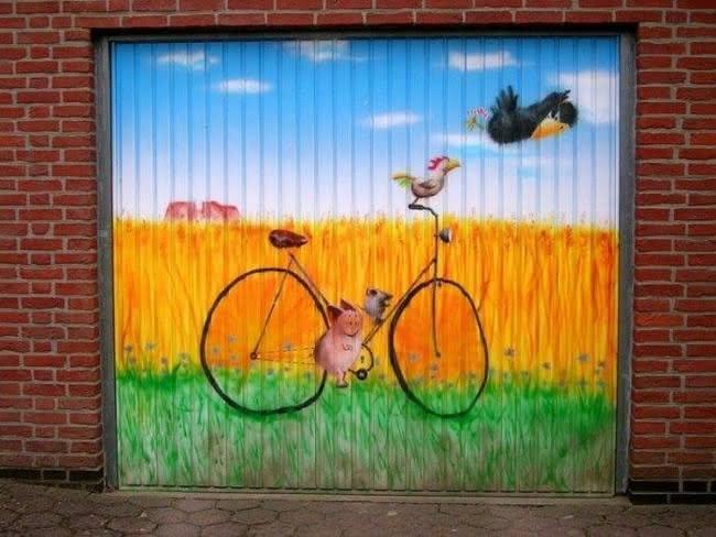 Arte em portão de garagem (4)