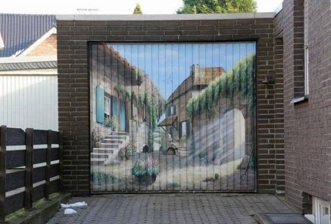 Arte em portão de garagem (6)