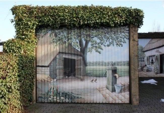 Arte em portão de garagem (9)
