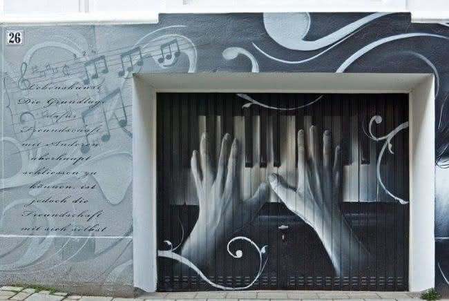 Arte em portão de garagem (11)