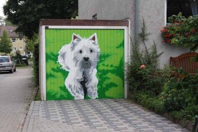 Arte em portão de garagem (15)