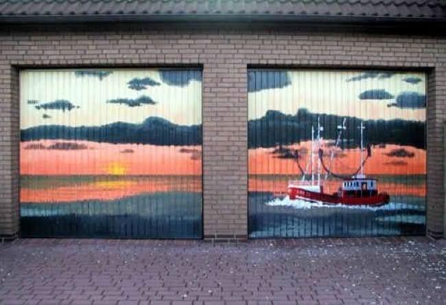 Arte em portão de garagem (16)