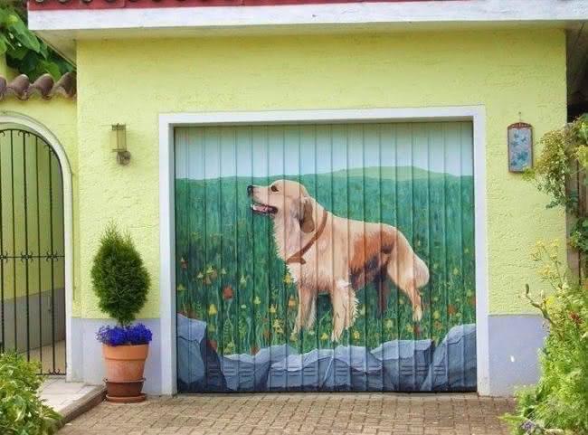 Arte em portão de garagem (17)
