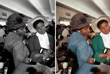 Esse homem colocou cores em fotos antigas, para valorizar histórias de pessoas negras