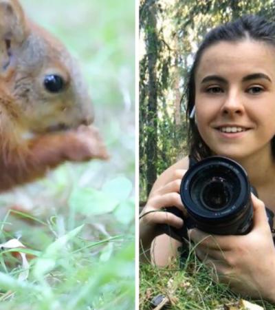 Fotógrafa registra fotos incríveis de esquilos bebês e faz vídeo de cena inusitada