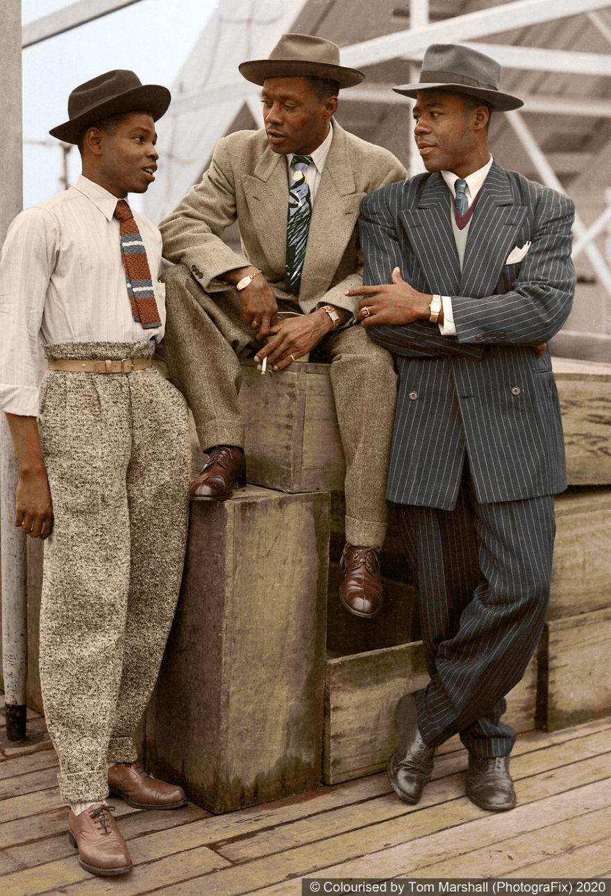 homens negros elegantes