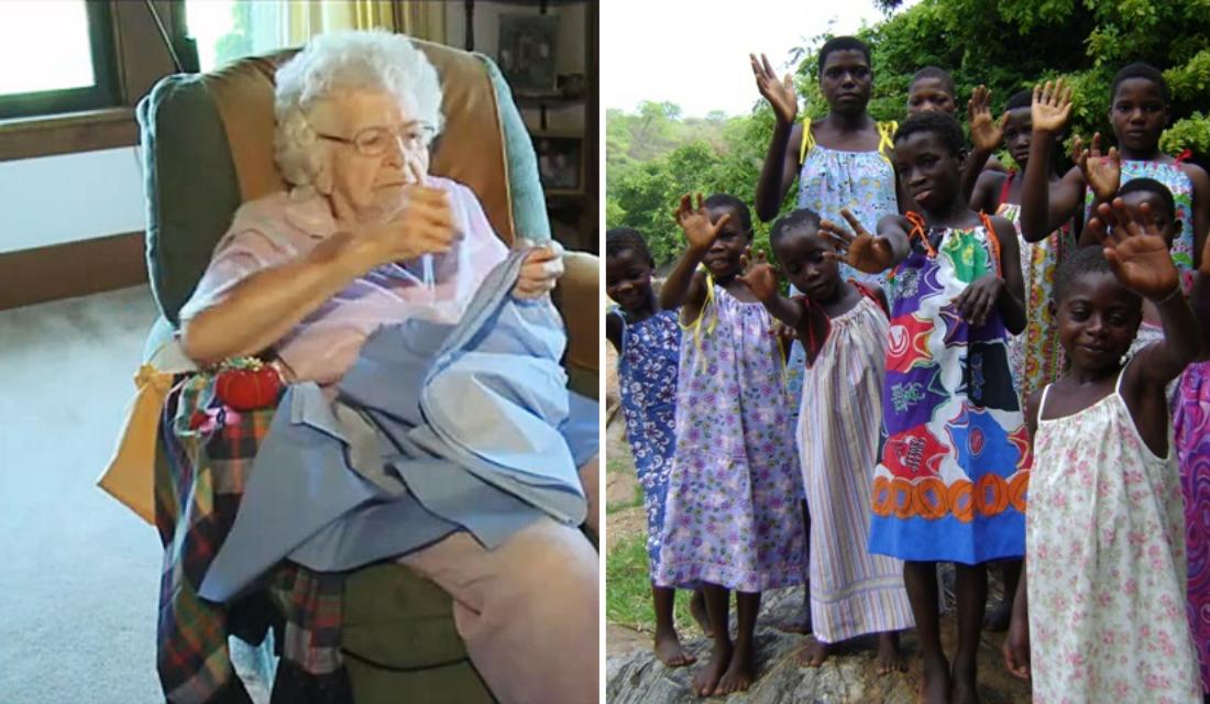 Essa senhora de 99 anos, presenteia uma menina carente, fazendo algo especial todos os dias